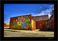 Words  and Flowers (the Gallopping Geezer 3.5 million + views....) Tags: building sign mi canon advertising mural downtown michigan ad detroit sigma structure signage geezer advertise 24105 2016 5d3