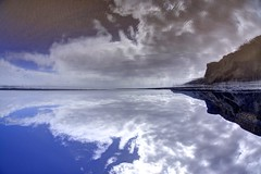 Up and Down (pauldunn52) Tags: heritage wet wales stairs reflections mirror coast sand image glamorgan whitmore