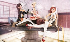 Hello Nurse..s (Cassandra Middles) Tags: life pink girls red playing stockings ginger sitting cosplay head doe sl needle secondlife blonde second heels nurse freckles brunette corpse ikon sari fuel whimsical zenith morgue veela ooc maitreya essences magika skinnery elikatira veechi