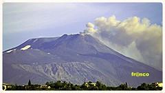 Etna da casa (fr@nco ... 'ntraficatu friscu! (=indaffarato)) Tags: italy italia crater sicily monte etna montagna catania sicilia vulcano fumo cratere mongibello