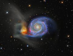 Messier 51 (Roberto Colombari) Tags: stars whirlpool galaxy astrophotography subaru astrofotografia m51 hubble hst deepsky astrometrydotnet:status=solved astrometrydotnet:id=nova1562471