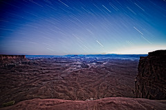 Star Trials Over Canyonland (campmusa) Tags: spring nightlights nightscape may moab nightshots nightsky utahtrip 2016 canyonland starlights startrials greenriveroverlook nikond750