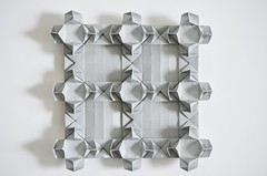 Square Fortress Tessellation (Byriah Loper) (Byriah Loper) Tags: paper square grid origami polygon tessellation paperfolding kami byriah byriahloper