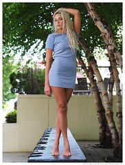 Madison - Cascade (jfinite) Tags: trees beauty fashion bench spring model legs environmental foliage portraiture barefoot blonde platinumblonde