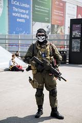 Comic Con (Exposed Photographer) Tags: man london robert japan canon asian costume dock iron call cosplay duty ghost may royal victoria sean tony storage joker kelly stark hunters jnr downey mcm 2016 of 5dmk3