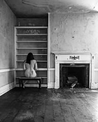 Common Knowledge (sadandbeautiful (Sarah)) Tags: bw woman house selfportrait abandoned me female self fireplace pennsylvania