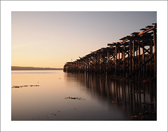 Decaying pier VII (Christa (ch-cnb)) Tags: longexposure sea norway pier norge decay olympus norwegian filter nd pro fjord trondheim zuiko decaying omd density neutral trndelag ranheim nd110 trondheimfjord microfourthirds mzd1240mm em5mkii