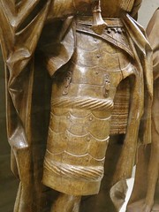 ca. 1515-1525 - 'warrior saint' (circle of the Master of Elsloo), Upper Guelders, Musée du Louvre, Paris, France (RO EL (Roel Renmans)) Tags: 1515 1520 1525 warrior saint st ridder heilige guerrier soldatenheiliger san sankt sculpture renaissance gothic master elsloo maitre meester van de limbourg limburg upper guelders opper gelre gueldre obergeldern alta gheldria musee museum louvre du parigi paris parijs armor armure armadura armatura maximilian harnas sword epee hat hoed chapeau circle omgeving atelier tassets