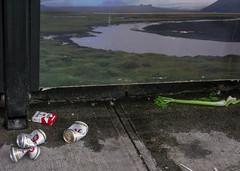 Urban Picnic (prima seadiva) Tags: abandoned beer smoking rainier bustop celery beercans