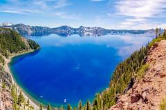 Cleetwood Cove, Crater Lake National Park, Oregon (malberts78) Tags: parks national wilderness mountains volcano crater tranquil clouds northwest ocean pacific coast oregon awe scenic amazing beautiful beauty outdoor water watercourse serene landscape sunset shore lake sky cleetwood cove