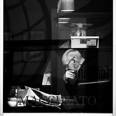 news (dizbin) Tags: street portrait people blackandwhite bw blancoynegro window coffee monochrome dark square photography mono photo noiretblanc candid streetphotography olympus minimal photograph squareformat om impression omd minimum hants em10 bsquare dizbin