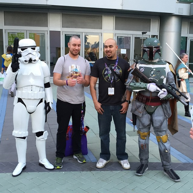 #Stormtrooper and Boba Fett #Cosplay at Star Wars Celebration #starwars #bobafett #starwars #swca