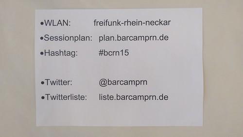 Wichtige Infos fürs BarCamp
