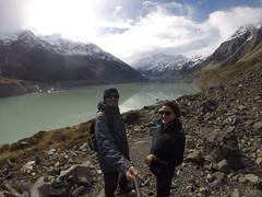 Photo de 14h -  Hooker Valley devant le glacier et le mont Cook  (Nouvelle-Zélande) - 28.04.2014