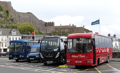 Red, Black & Blue (Coco the Jerzee Busman) Tags: uk bus islands coach britain great jersey char tours channel banc
