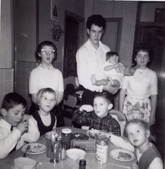 Lunch at the Perreault's (Brian Bowrin) Tags: street new st lunch lucy dale 1960s roger jeanne catharines parker jeannine lr noella comeau gaetan robichaud perreault bowrin
