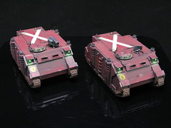 Blood Ravens Rhinos (T Markham) Tags: blood warhammer spacemarines ravens gamesworkshop