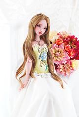 Myra ~ (1000 No Kotoba) Tags: pink red beautiful ball doll skin ooak gorgeous tan large lips sd wig blonde bjd custom volks 13 tone myra mako jointed ellana faceup lillycat leekeworld