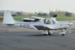 G-UFOE Coventry 19 April 2015 (ACW367) Tags: coventry grob swiftair g115a gufoe