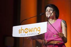 Angy en la 5 edición de los premios Showing Film Awards