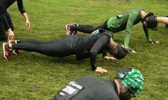 Push-ups (blondinrikard) Tags: girls sport race göteborg women exercise sweden gothenburg competition tights april pushups obstaclecourse tävling 2015 slottsskogen idrott träning lopp träningskläder löpartävling hinderbana fysiskaktivitet trainingsuits runningsuits toughviking löparkläder funktionskläder toughvikingrace