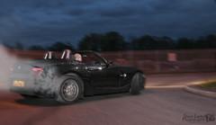 Drifting (Steve Layhe Photography) Tags: road longexposure black cars car night race nikon long smoke flash roundabout slide racing full 25 bmw z4 slippery longshutter chesterfield tyre drifting drift skid throttle d300 bmwz4 nightshooter 25litre nikond300