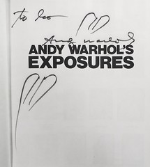 "Title Page inscribed by Andy Warhol in his book ""Andy Warhol's Exposures."" NY: Grosset & Dunlap, (1979). First Edition (lhboudreau) Tags: celebrity book signature photobook books autograph andywarhol celebrities 1979 celebrityphoto signatures inscription autographs signed autographed exposures hardcover photographybook titlepage inscribed firstedition celebrityphotos celebrityphotographs hardcovers hardcoverbooks candidphotos hardcoverbook grossetdunlap celebrityphotograph andywarholsexposures andywarholsfriends"