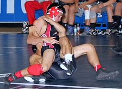 Southern California Duals - SouthD (513) (Leo Tard1) Tags: california ca usa male canon wrestling wrestler palomar communitycollege wrestle mounties singlet 2014 mtsac mtsanantoniocollege eos7 cerritoscollege collegewrestling southerncaliforniaduals