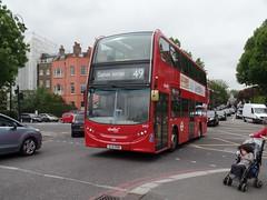Abellio London 2455 on route 49 (SW11simon) Tags: bus london transport 49 londonbus londontransport tfl 2455 hybridbus alexanderdennis abellio enviro400 sl14ddn