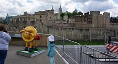 Shaun in the City! TOWER OF LONDON (claude.lacourarie) Tags: charity london londres pont riverthames toweroflondon shaunthesheep tamise colorsoflondon shauninthecity commerantsruesroads couleursdelondres