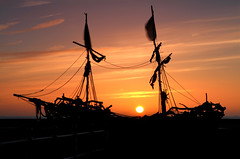 Grace Darling Sunset (David Chennell - DavidC.Photography) Tags: sunset silhouette boat pirates gracedarling wirral merseyside hoylake