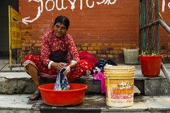 Keeping clean (gthulin) Tags: nepal asia lila mount kathmandu everest bazar lukla namce