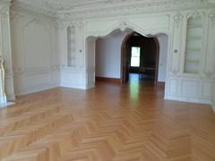Beautiful herringbone floors (SuperiorFloors) Tags: floors lakegeorge doorway flooring redoak hardwood herringbone