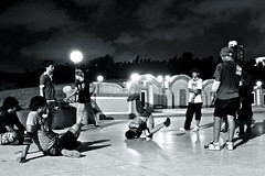 3 (ssedov) Tags: blackandwhite bw music cemetery youth night thailand shadows bangkok breakdance krungthep
