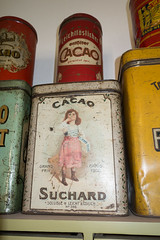 Antique cocoa tins (quinet) Tags: germany tin antique coco grocery cocoa boite ancien antik dose picerie cacao suchard 2013 lebensmittelgeschft domnedahlem leichtlslicher