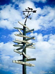 Sign Post (Karl Outdoor Photography) Tags: sky weather sign post alberta weathervane signpost vane canmore raftersixranchresort