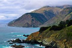 Dramatic Landscape (laurenspies) Tags: ocean california ca bridge usa cali clouds landscape rocks bigsur hills pacificocean route1