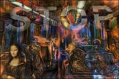 The Day I Saw Mona Lisa In The Metro (Daniel Arrhakis) Tags: metro lisbon surrealism monalisa stop ancientmodernity