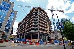 Bridgestone Construction (00Accord4cyl) Tags: city building construction downtown tn nashville crane tennessee garage parking bridgestone