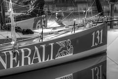 TransAt Yachts 30th April 2016 #15 (JDurston2009) Tags: blackandwhite bw reflection sailing yacht plymouth barbican devon 131 sailingboat suttonharbour transat transatbakerly