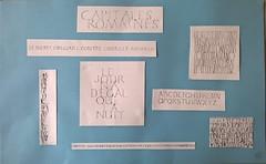 Samedi 21 mai. Stage de calligraphie. Avec Stphanie Devaux. https://www.facebook.com Capitales romaines. (couleur.indigo) Tags: papier encre plume calligraphie