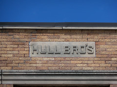 OH Fort Recovery - Hull Bro's (scottamus) Tags: ohio detail building architecture mercercounty fortrecovery hullbros