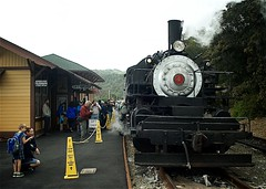 No 4 at the Sunol Station (Charlie Day DaytimeStudios) Tags: ca railroad usa cloudy trains earlyspring railroadtracks fremontca sunolca railequipment trainsrailroads nilesrailroad nilecanyon sunfremont