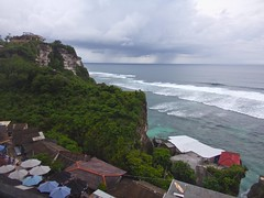 Uluwatu cliffs in Bali (b_lawless) Tags: ocean travel bali cliff green beautiful indonesia landscape coast seaside waves outdoor cliffs adventure ridge shore uluwatu environment bluff viewfromabove