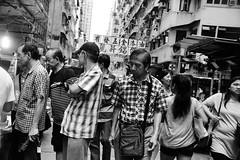 Bustle (Smith-Bob) Tags: people man men dude dudes woman women hongkong hk china street blacknwhite bw blackwhite market buy sell purchase barter food shootingfromthehip fromthehip hip