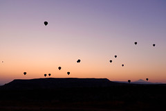 Breathtaking (_Codename_) Tags: sky silhouette sunrise turkey landscape purple balloon gradient hotairballoon cappadocia göreme göremenationalpark