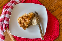 As American as.... (Jill Clardy) Tags: red food white ice apple pie photography mac day napkin cream plate mo explore homemade american vanilla fathers checked explored 201606194b4a2707edit