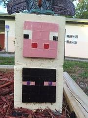 Totem base (giveawayboy) Tags: sculpture project tampa pig community ceramics cement totem hubert base totems recreationcenter nhas enderman westshorepalms hubertstreet minecraft northhubertartstudio kidscreate2015