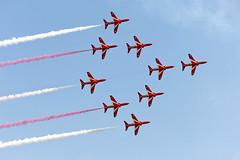 The Red Arrows (Andy C's Pics) Tags: hawk duxford bae redarrows raf imperialwarmuseum iwm britishaerospace royalairforce theredarrows hawkt1a ukairforce britishaerospacehawkt1a