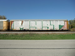 10-08-10 (20) (This Guy...) Tags: road railroad car train graffiti box graf rail rr traincar boxcar graff 2010 myst